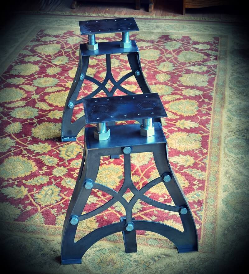 Retro Industrial Steel Legs